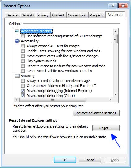 Remove Secure Search Extension from Internet Explorer