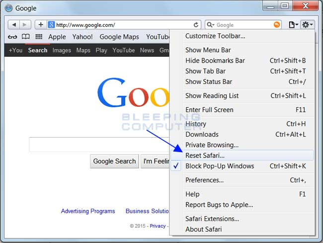 Remove Secure Search Extension from Safari