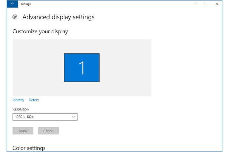 Adjust the Screen Resolution Setting in Windows